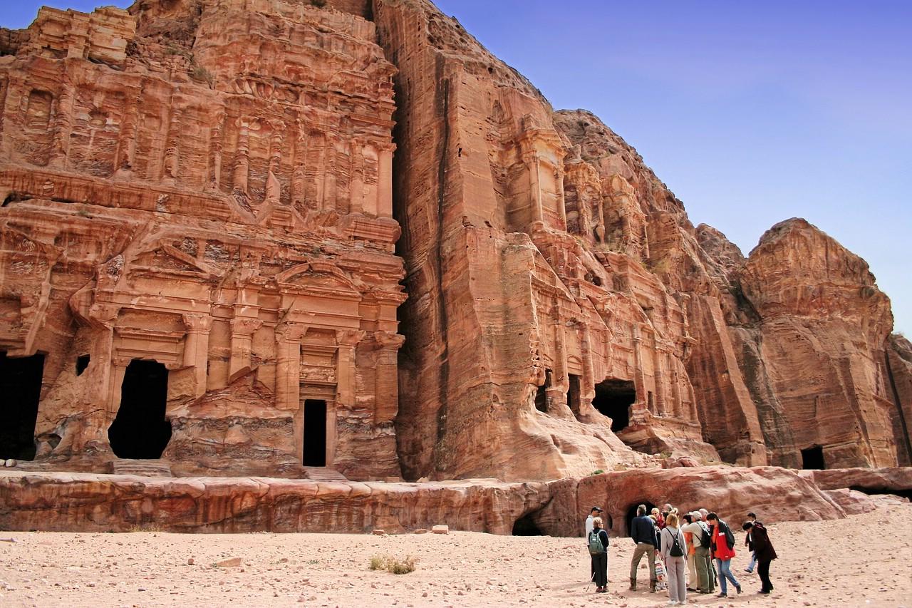 """Bei den """"Königsgräbern"""" in Petra"""