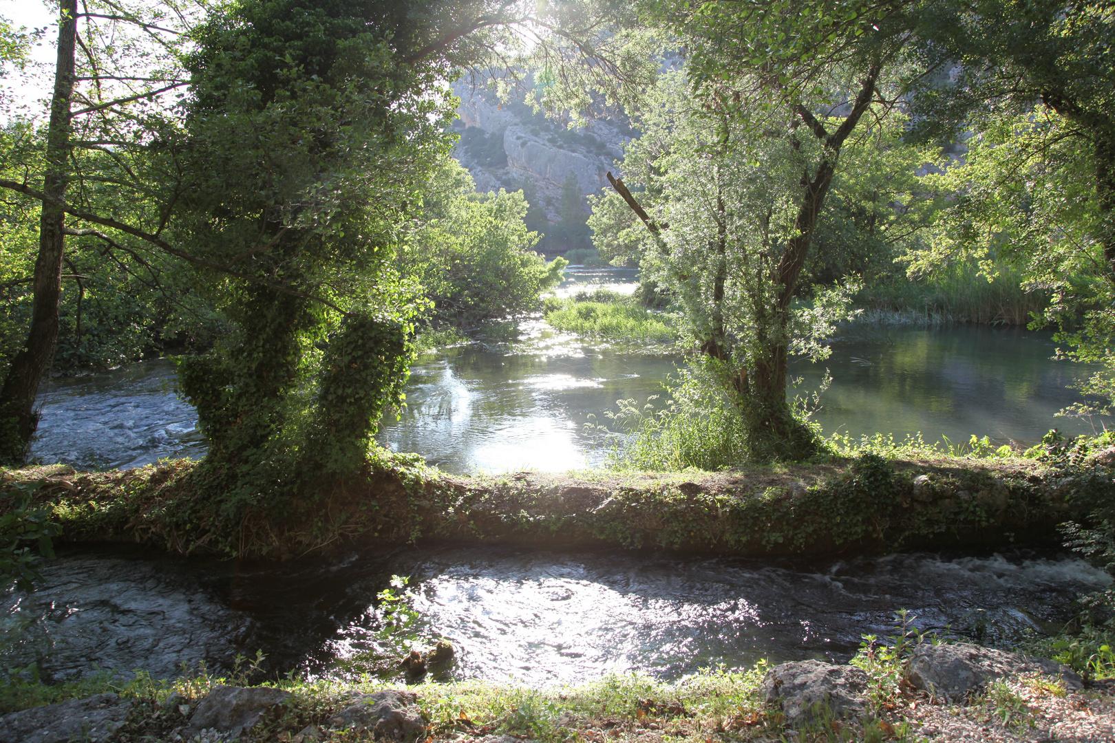 Bei den Krker Wasserfällen