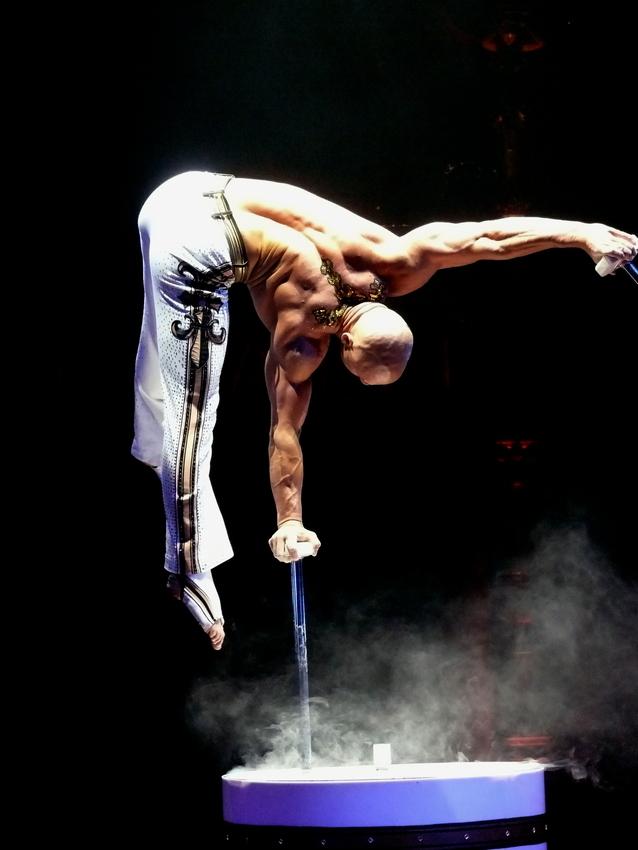 .... bei der Arbeit im Circus eben