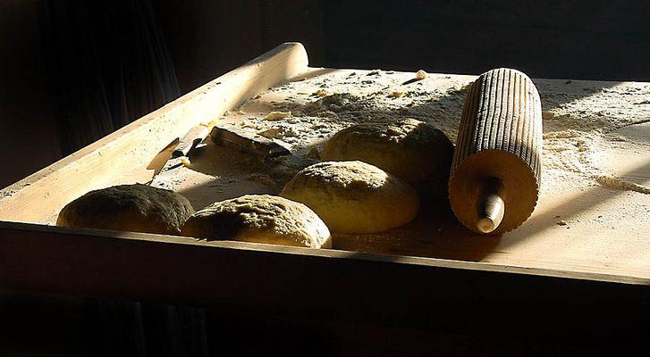 Bei der Brotbäckerin!