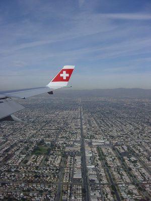 Bei der Landung in Los Angeles
