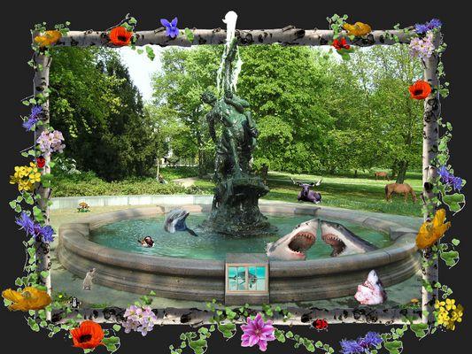 Bei gutem Wetter ist beim Brunnen ganz schön was los ...