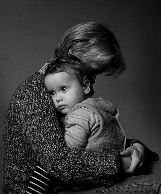 Bei Mama ist´s am besten (schwarz-weiss)