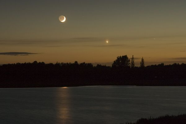 bei Nacht am Ratekauer See