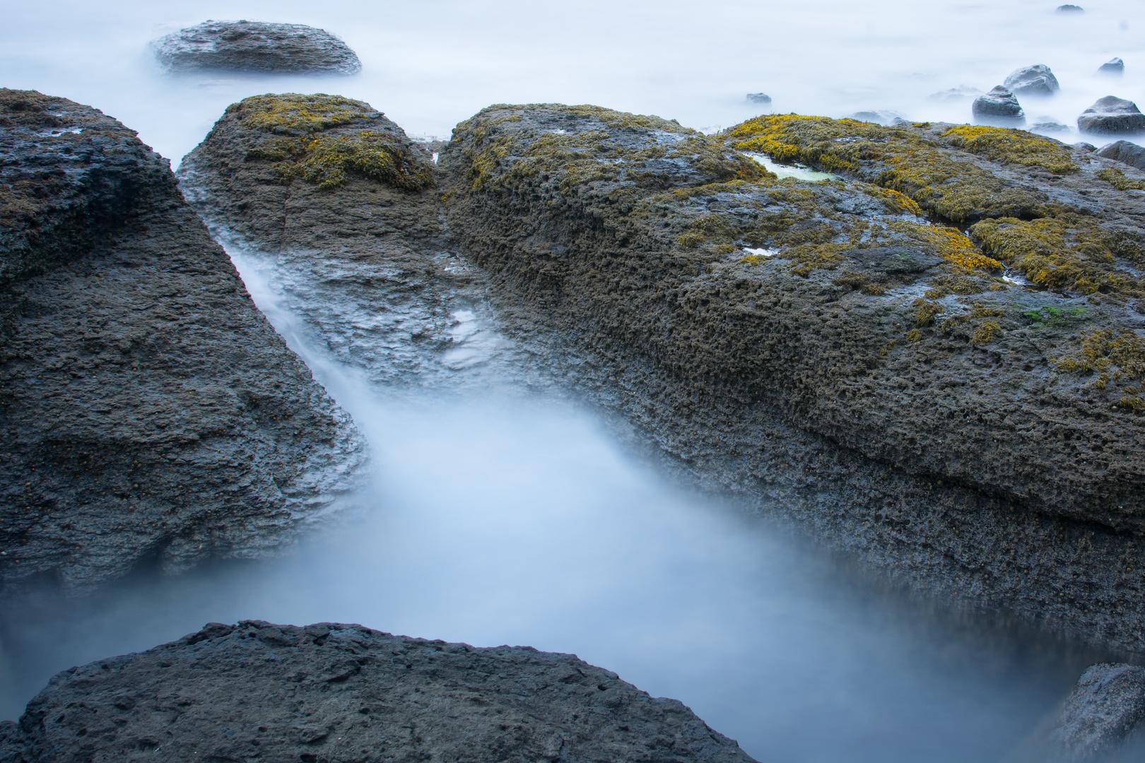 Bei regnerischen Wetter irgendwo an der Küste auf der Isle of Skye