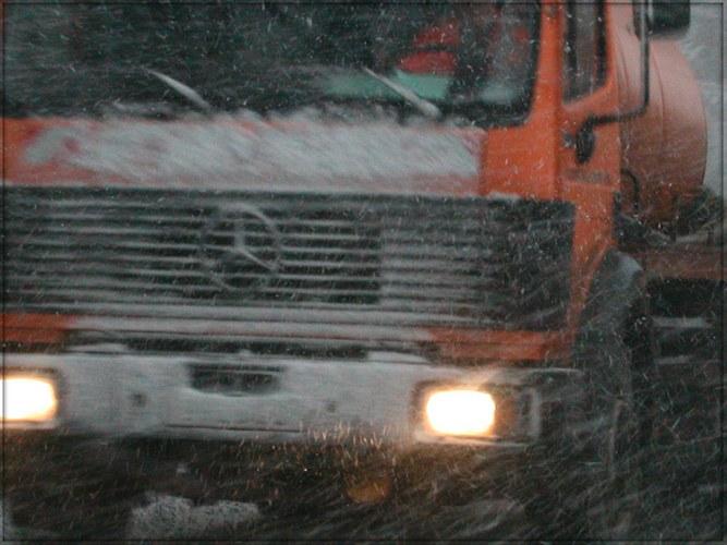 Bei Schnee und Sturm
