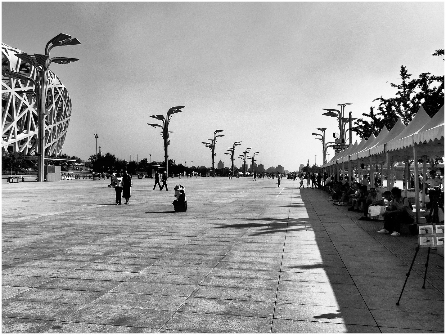 Beijing. Esplanade du stade olympique.