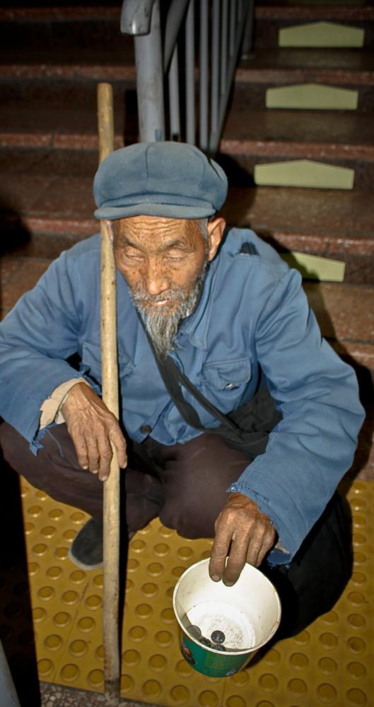 Beijing - Treppe - Mann