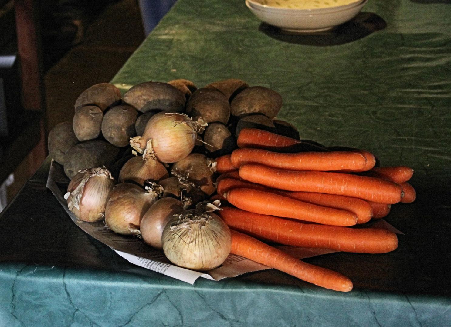 Beilage zur Kartoffelsuppe (Freilichtmuseum Vogtsbauernhof)