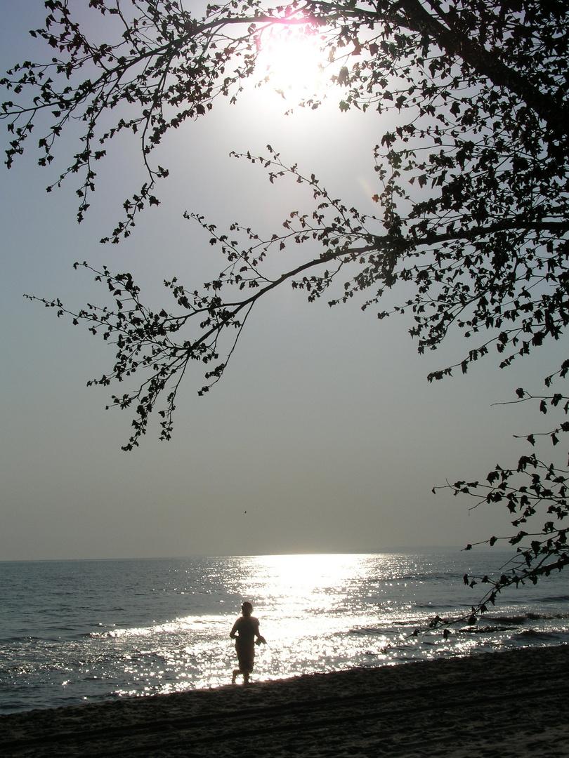 beim Aufwachen am Strand
