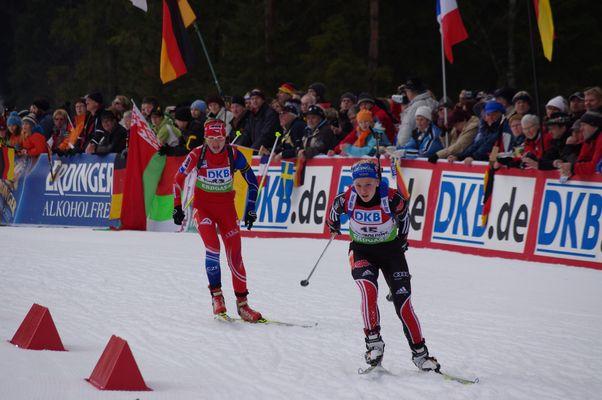 Beim Biathlon Weltcup 2011 in Ruhpolding
