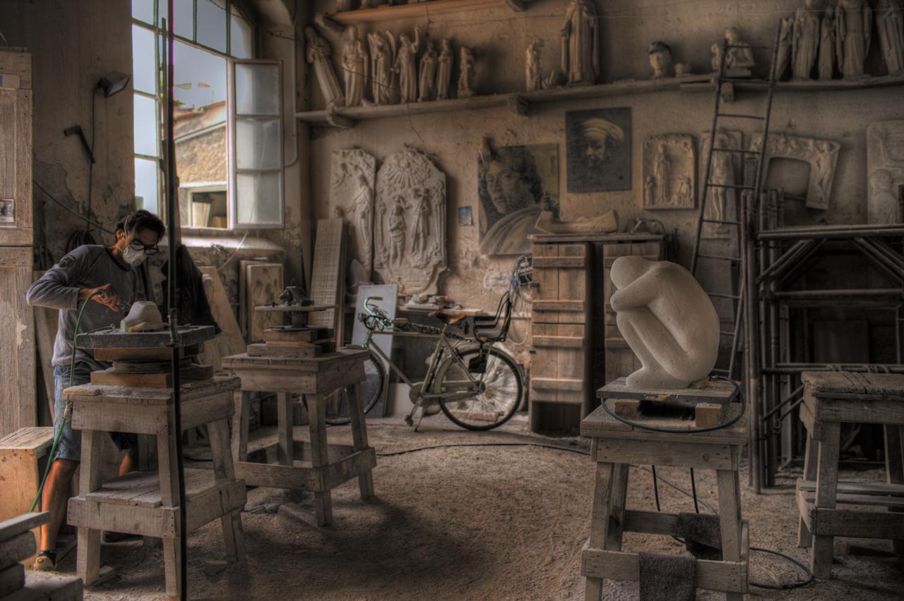 Beim Bildhauer Toskana