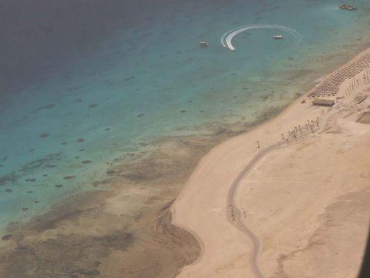 Beim Landeanflug auf Hurghada