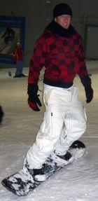 Beim Snowboarden