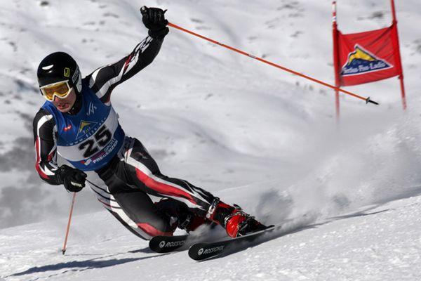 Beim Telemark Worldcup in Fiss
