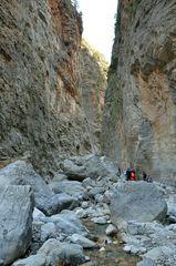 Beim Wandern in der Samaria-Schlucht