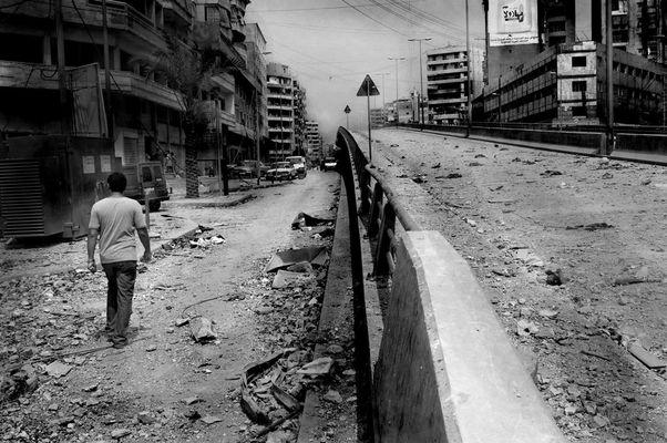 Beirut - Zerstörte Autobahn