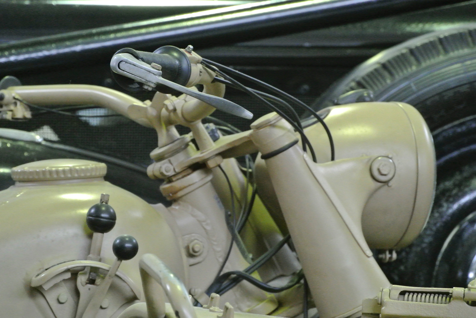 Beiwagenmaschine der Wehrmacht