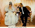 Béja, Tunesien, Hochzeitsfeier, Brautpaar, 1997