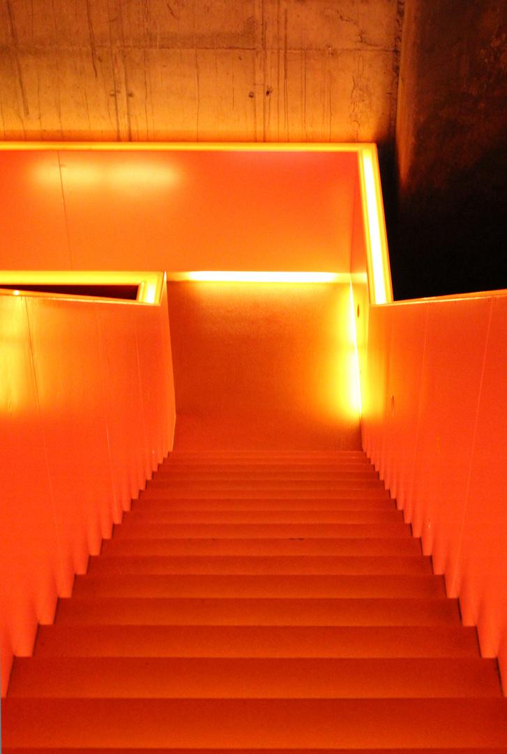 Beleuchtete Treppe
