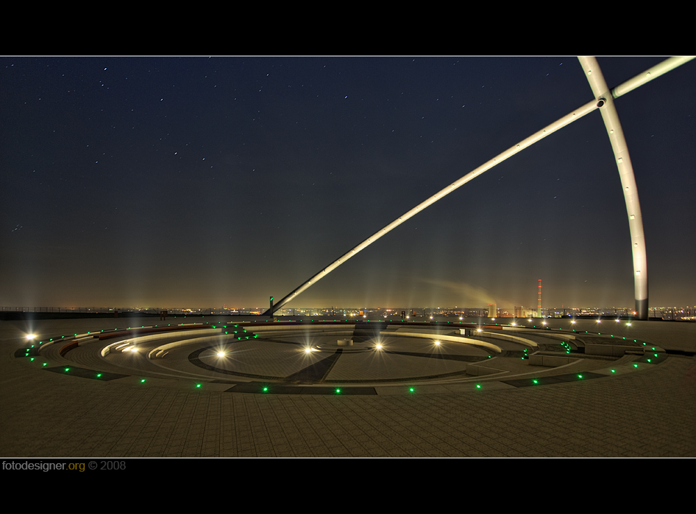 « Beleuchtungsprobe am Horizont - Observatorium »
