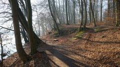 beliebter Rad- und Wanderweg (Schweriner See)