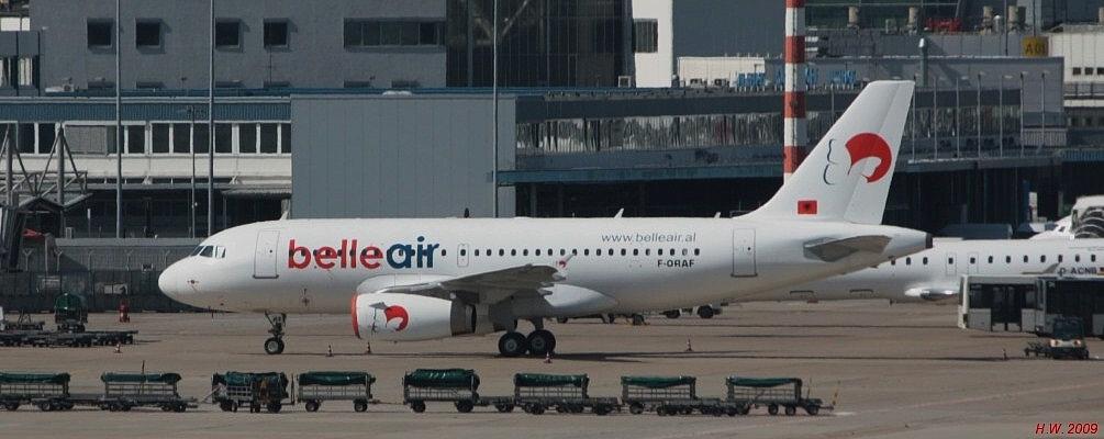 belle air, A319, Reg: F-ORAF
