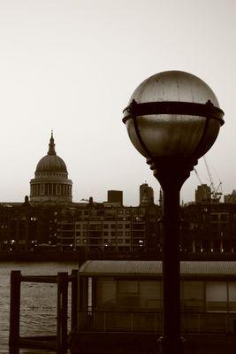 Below us the Thames grew lighter,