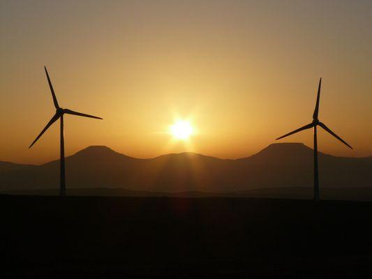 Ben Aketil Wind Farm auf Skye, Schotlland