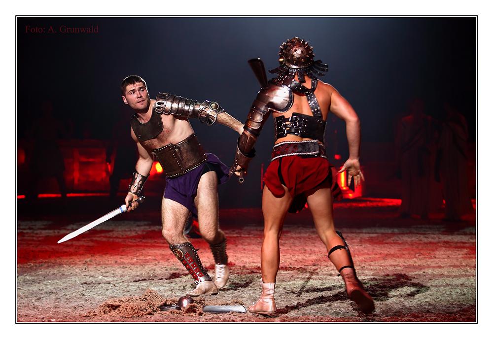 BEN HUR DEUTSCHLAND-PREMIERE: Gladiatoren-Kämpfe