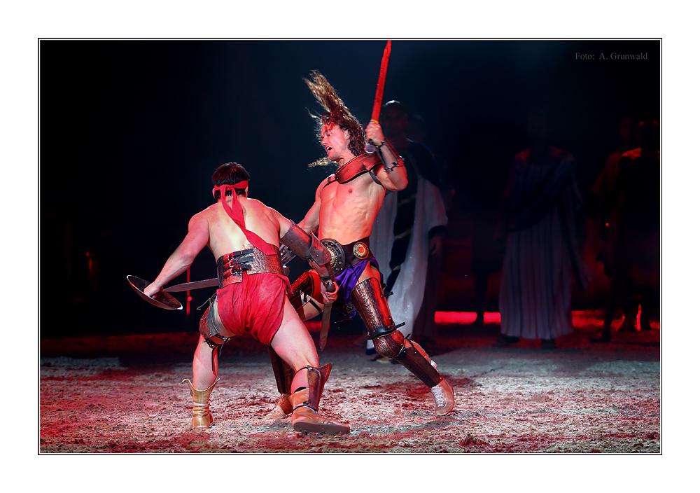 BEN HUR DEUTSCHLAND-PREMIERE: Gladiatoren-Kampf #2