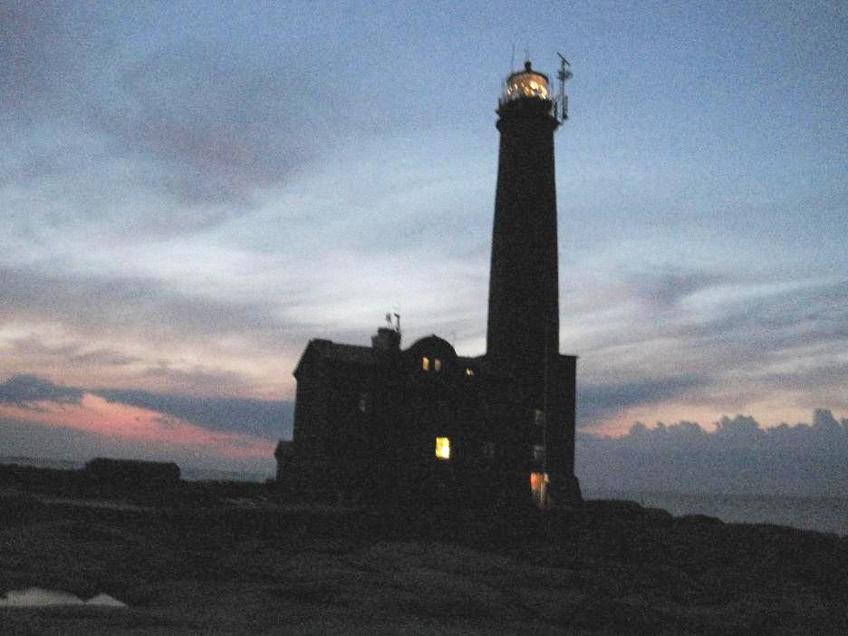 Bengtskär Lighthouse - das Licht des Leuchtturms von außen gesehen