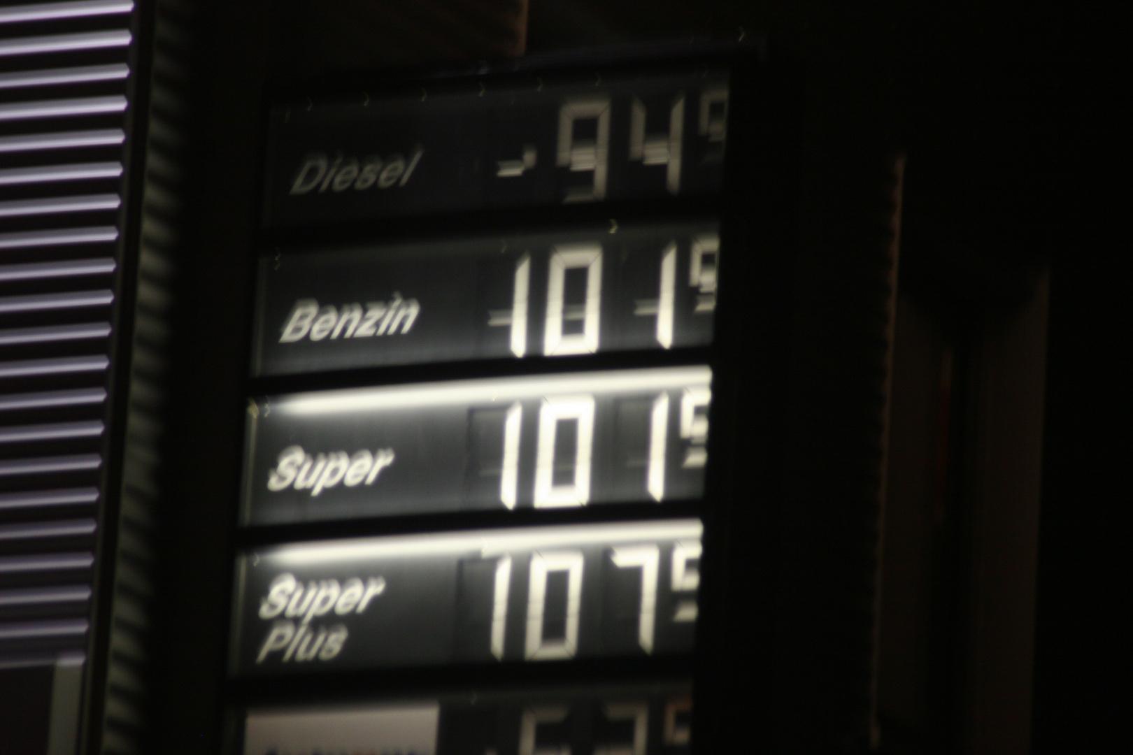 Benzinpreis 31.12.2008