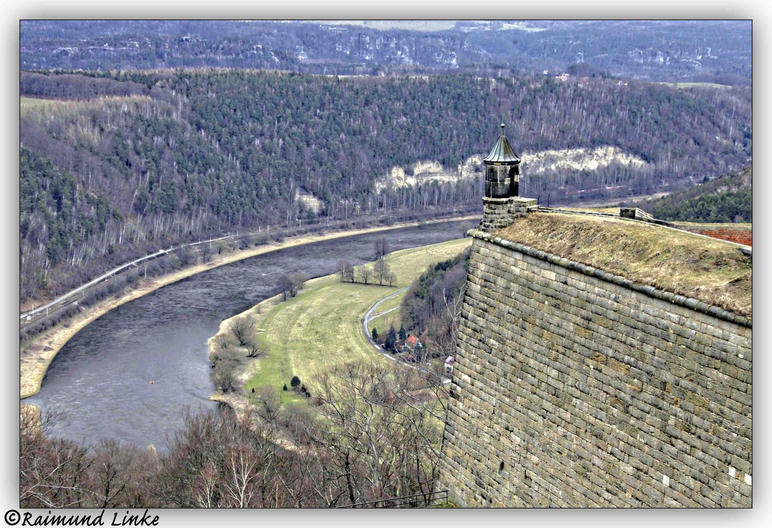 Beobachtungsturm auf der Festung Königstein