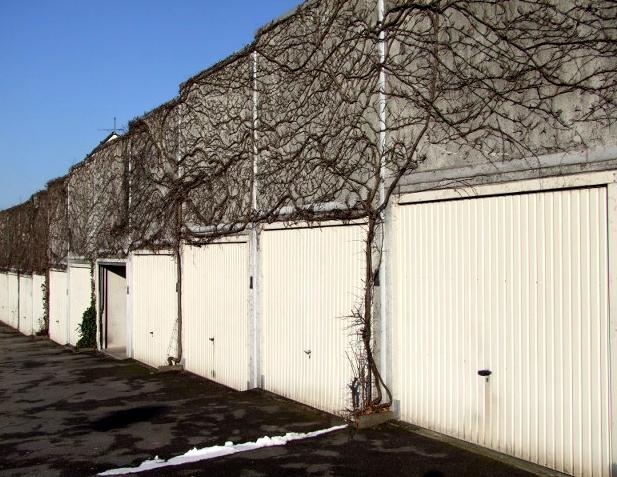 Bepflanzte Garagenkette