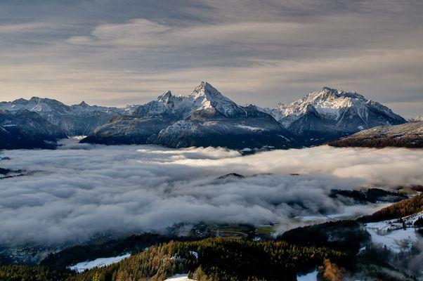 Berchtesgaden im Nebel
