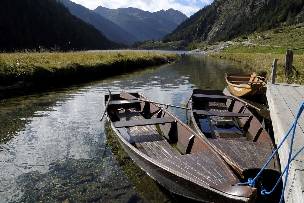 Bereit für eine Bootsfahrt - Riesachsee Schladming - Rohrmos