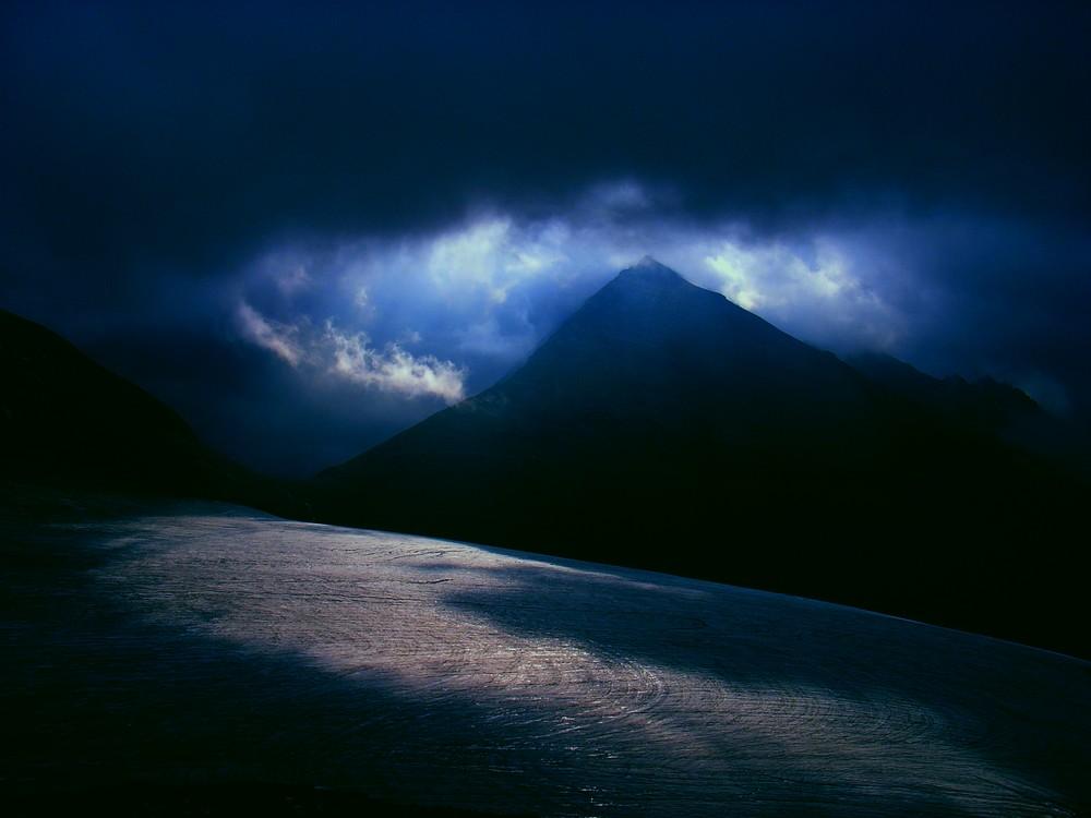 Berg im Rampenlicht