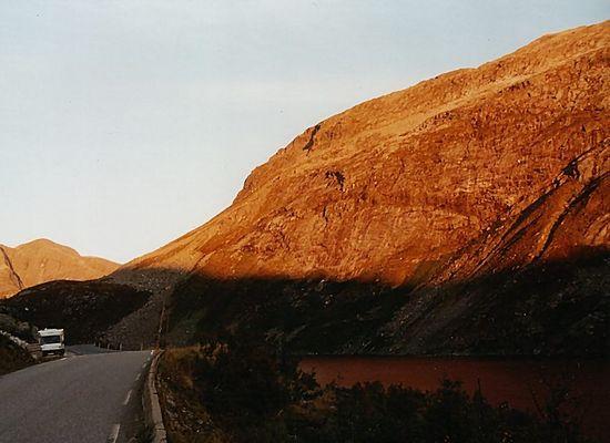 Berg in Rot...