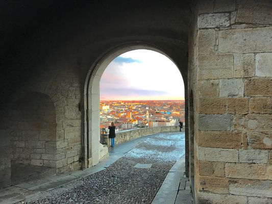 Bergamo : Città Bassa da Porta San Giacomo