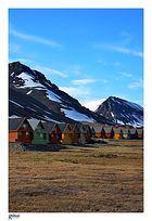 Bergarbeitersiedlung Longyearbyen auf Spitzbergen