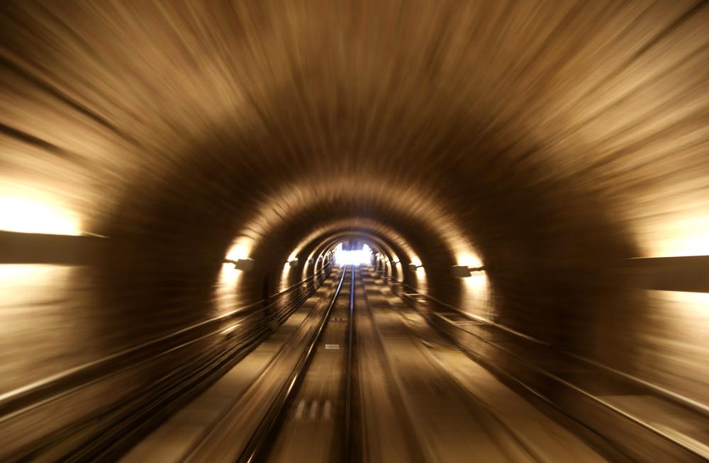Bergbahn/Bergtunnel in Heidelberg
