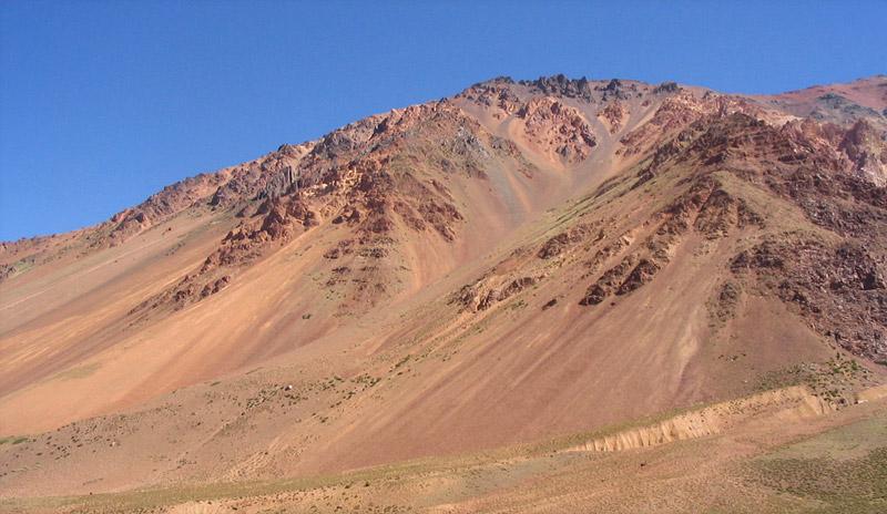 Berge an der RN7 von Mendoza nach Chile