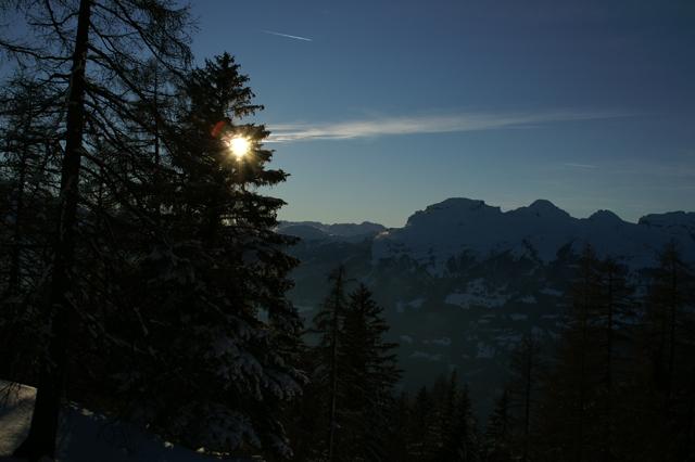 Berge im Rheintal