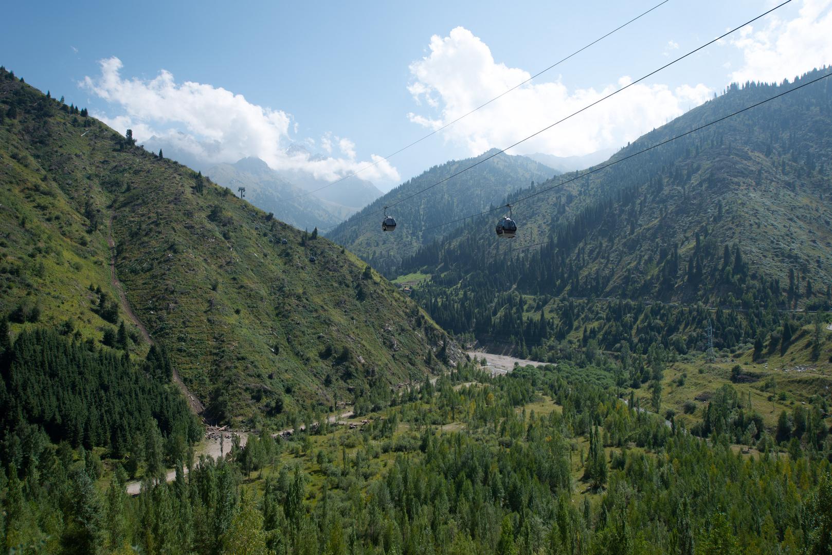 Berge in Almaty Kasachstan