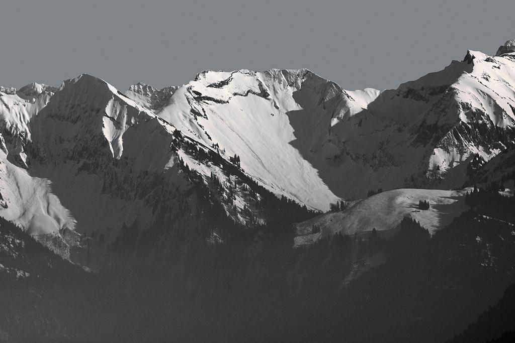 Berge in s/w