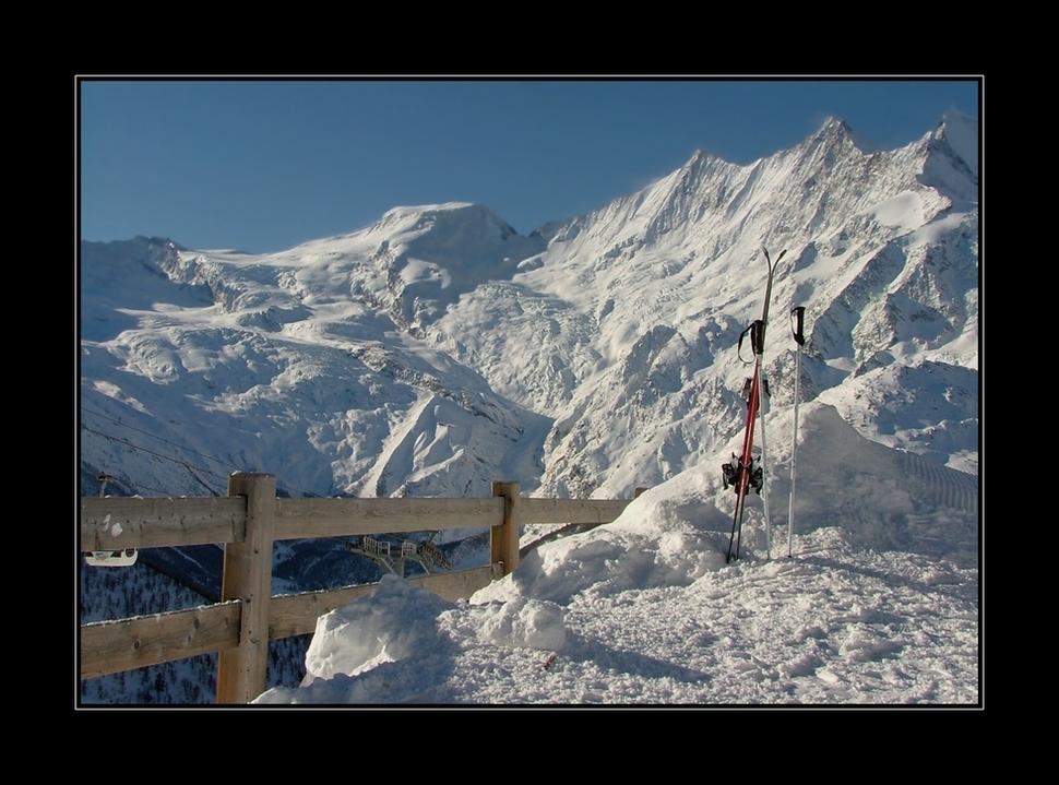 Berge, Sonne, Schnee...