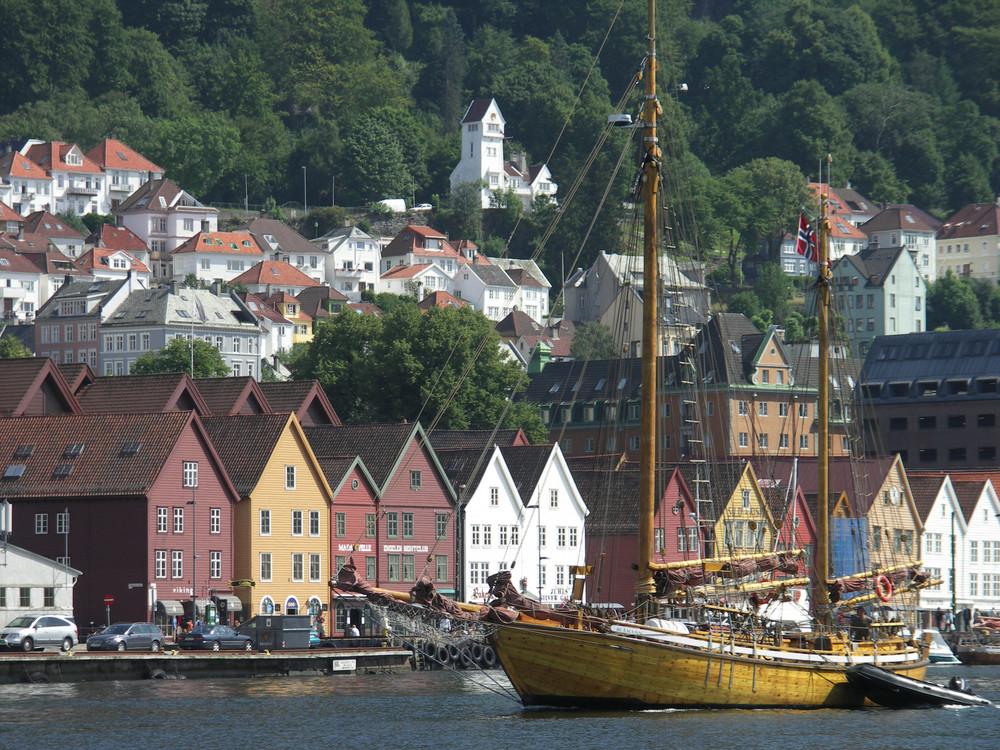Bergen - Blick auf das Bryggenviertel