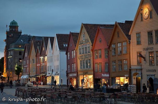 Bergen en Norvège