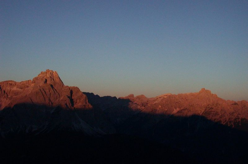 Bergfeuer in den Sextner Dolomiten